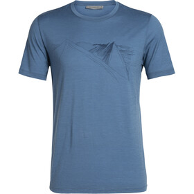 Icebreaker Tech Lite Peak in Reach SS Crewe Shirt Herr Thunder